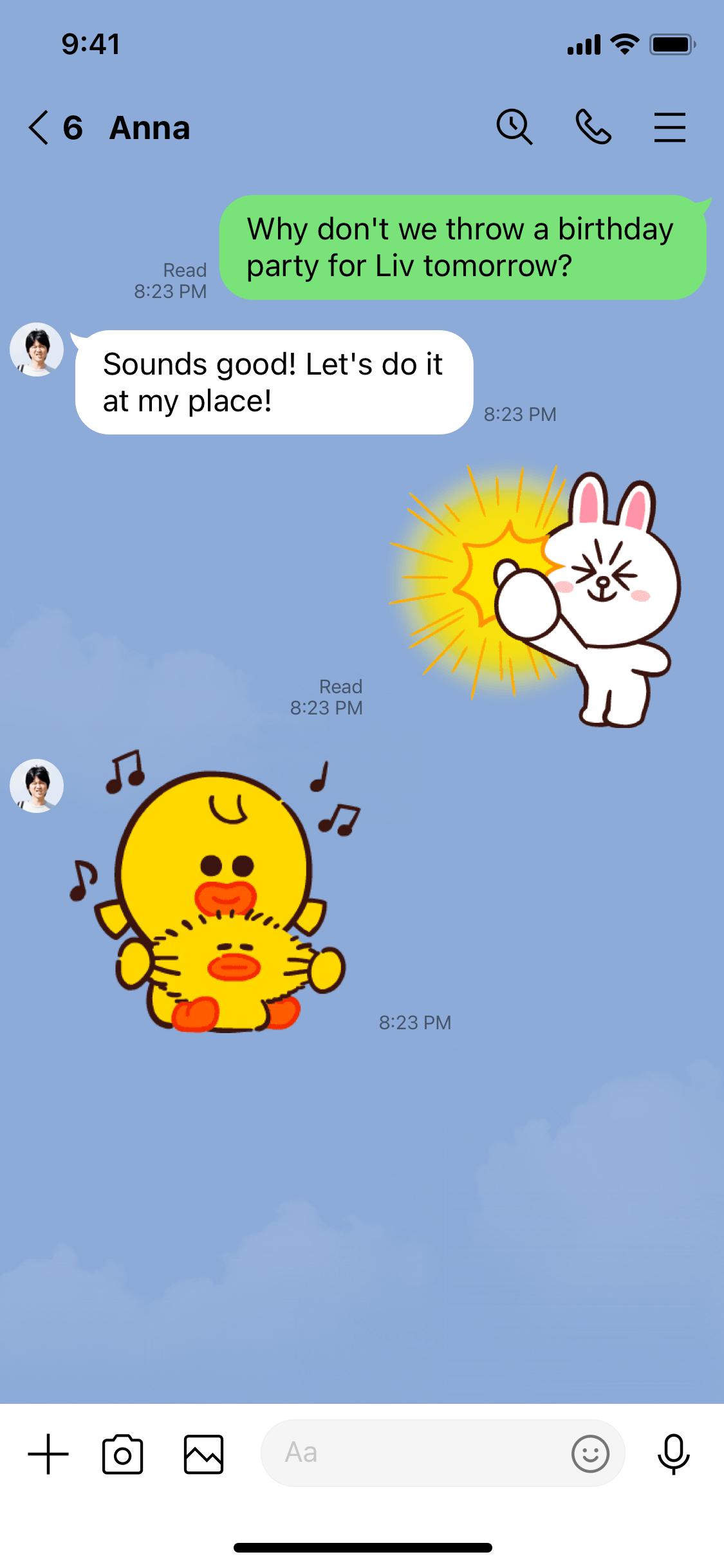 LINE screenshot EN - Chat@3x